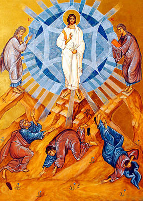 Orthodox Icon Painting - Transfiguration Of Christ by Munir Alawi