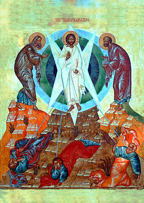 Orthodox Icon Painting - Transfiguration Of The Lord by Munir Alawi