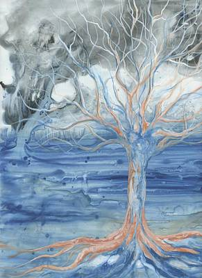Tree Roots Painting - Transform by Emily Magone