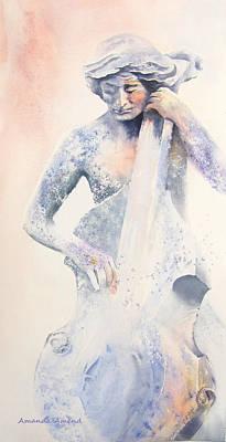 Bassist Painting - Transformation by Amanda Amend