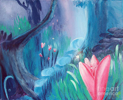 Mystical Landscape Painting - Transformation by Jamie Hartley