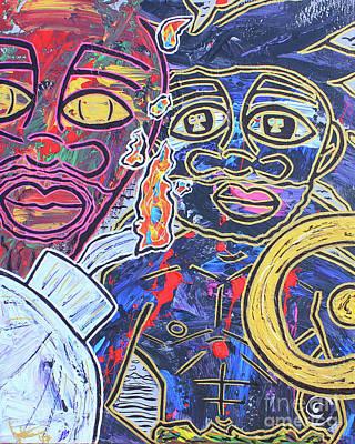 Painting - Transgenerational Karma by Odalo Wasikhongo