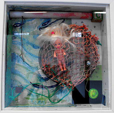 Floating Box Mixed Media - Transgression Quartet I by Lorraine Riess