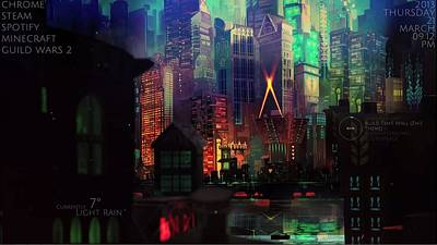 Skyline Digital Art - Transistor by Maye Loeser