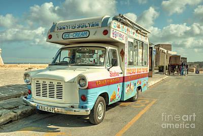 Maltese Photograph - Transit Ice Cream  by Rob Hawkins