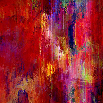 Red Abstract Art Mixed Media - Transition - Abstract Art by Jaison Cianelli