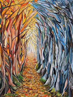 Painting - Transition Of Autumn by Ajp