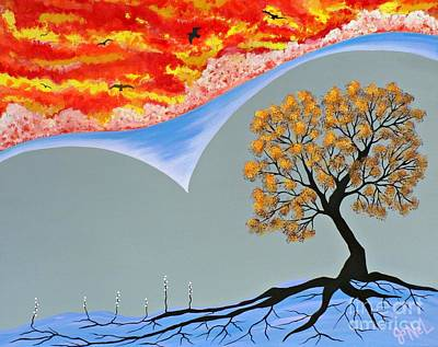 Tree Roots Painting - Transitional Journeys by JoNeL Art