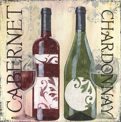 White Wine Painting - Transitional Wine 2 by Debbie DeWitt