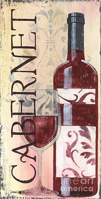 Cabernet Painting - Transitional Wine Cabernet by Debbie DeWitt