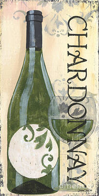White Wine Painting - Transitional Wine Chardonnay by Debbie DeWitt