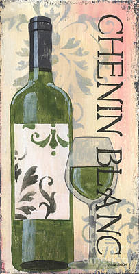 White Wine Painting - Transitional Wine Chenin Blanc by Debbie DeWitt