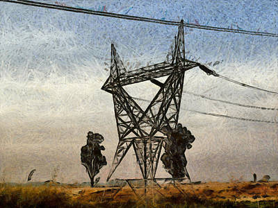 Wild And Wacky Portraits Rights Managed Images - Transmission tower Royalty-Free Image by Ashish Agarwal