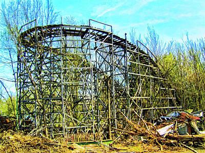 Roller Coaster Mixed Media - Transmutation by Dominic Piperata