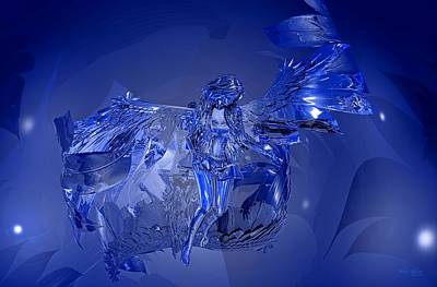 Digital Art - Transparent Blue Angel by Deleas Kilgore