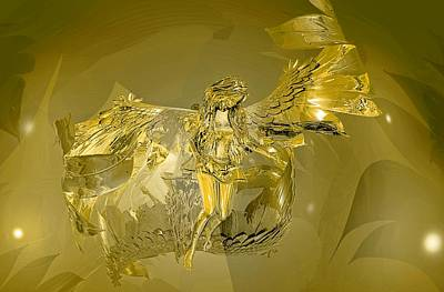 Digital Art - Transparent Gold Angel by Deleas Kilgore