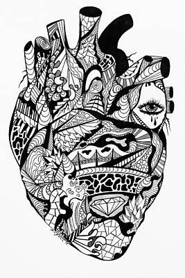 Drawing - Transparent Heart by Kenal Louis