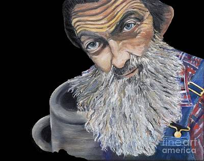 Painting - Popcorn Sutton Shines With Transparent Background -for T-shirts And Other Fabric Items- Moonshine by Jan Dappen