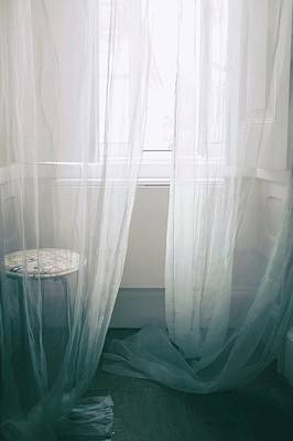 Transparent White Curtains Art Print