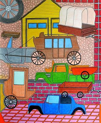 Drawing - Transport by Gregory Carrico