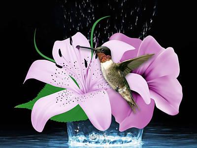 Mixed Media - Transport Hummingbird by Marvin Blaine