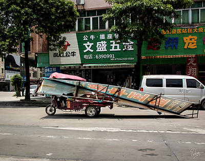 Photograph - Transport In Shilong by Endre Balogh