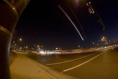 Midway Airport Photograph - Transportation Lights by Sven Brogren