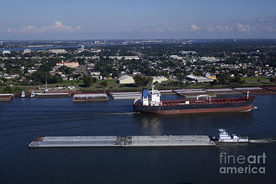 Garden Fruits - Transportation - Shipping on the Mississippi River by Anthony Totah