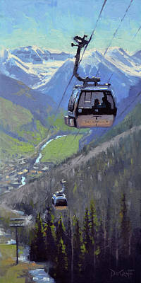 Colorado Ski Painting - Transported by Larry DeGraff