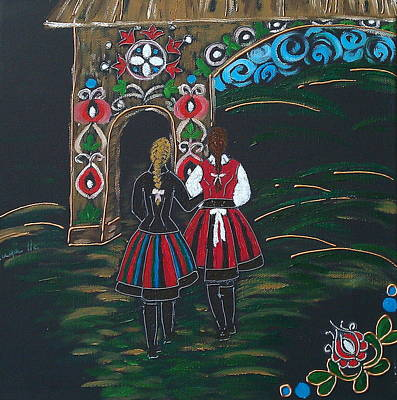 Handcrafted Painting - Transylvania  by Kinga Ile