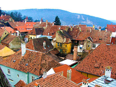 Photograph - Transylvania Rooftops by Judi Saunders