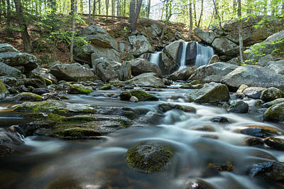 Photograph - Trap Falls In Spring 3 by Brian Hale