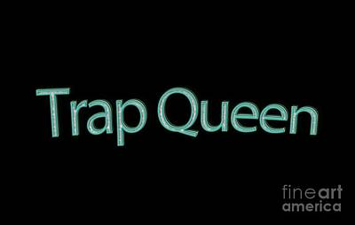 Trap Queen Tee Art Print by Edward Fielding