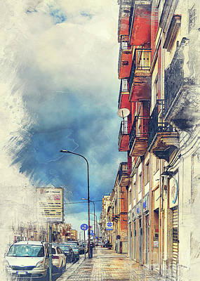 Sicily Painting - Trapani Art 20 Sicily by Justyna JBJart
