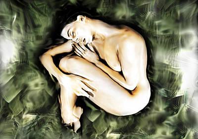 Traped Woman Art Print by Naikos N