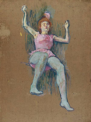 Acrobat Painting - Trapeze Artist At The Medrano Circus by Henri de Toulouse-Lautrec