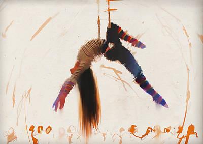 Trapeze Art Print by H James Hoff