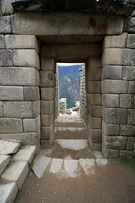 Photograph - Trapezoidal Door, Machu Picchu, Peru by Aidan Moran