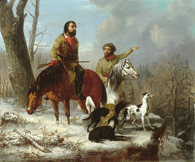 Painting - Trappers             by Trego and Williams