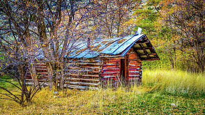 Trappers Cabin Art Print