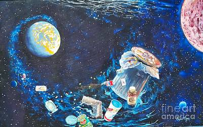 Painting -  We Loved Earth At One Time - Yes We Did. by Sigrid Tune