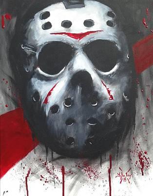 Hockey Painting - Trash Polka Jason by Tyler Haddox