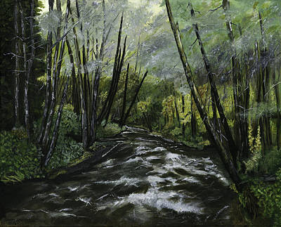 Painting - Trask River by Sara Stevenson
