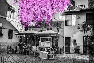 Photograph - Trastevere Cafe by Al Hurley