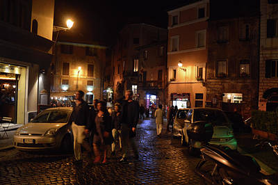 Photograph - Trastevere Nightlife by JAMART Photography