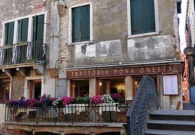Trattoria Dona Onesta In Venice, Italy Art Print