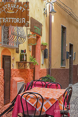 Photograph - Trattoria With Outside Tables by Patricia Hofmeester