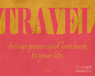 Inspired By Love Digital Art - Travel And Love by Liesl Marelli
