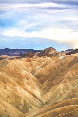 Death Valley Digital Art - travel In  Time III by Jon Glaser