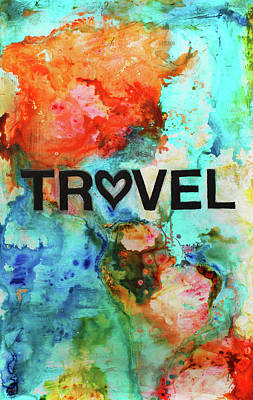 Surrealistic Painting - Travel by Ivan Guaderrama